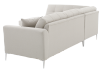 Fabric Sectional Sofa with Decorative Pillows - Beige product photo other05 S