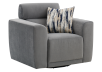 Fabric Swivel Armchair with Decorative Pillow - Grey product photo other01 S