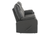 Fabric Reclining Sofa - Dark Grey product photo other02 S