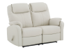 Reclining Loveseat with Genuine Leather Seats - Ivory product photo other01 S