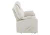 Reclining Loveseat with Genuine Leather Seats - Ivory product photo other02 S