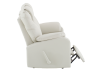 Reclining Loveseat with Genuine Leather Seats - Ivory product photo other03 S