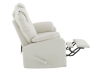 Reclining Loveseat with Genuine Leather Seats - Ivory product photo other04 S