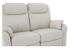 Reclining Loveseat with Genuine Leather Seats - Ivory product photo other06 S
