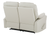 Reclining Loveseat with Genuine Leather Seats - Ivory product photo other08 S