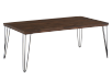 Coffee Table with Metal Legs - Brown and Black product photo