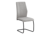Metal Chair with Fabric Seat - Grey product photo