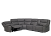 Reclining Motorized Sectional Sofa with Console - Grey product photo other01 S