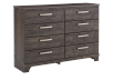 8 Drawer Dresser - Brown Grey product photo