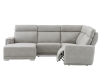 Elran Reclining Battery Motorized Fabric Sectional Sofa with Adjustable Headrests - Grey product photo other03 S