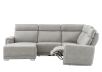 Elran Reclining Battery Motorized Fabric Sectional Sofa with Adjustable Headrests - Grey product photo other04 S