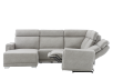 Elran Reclining Battery Motorized Fabric Sectional Sofa with Adjustable Headrests - Grey product photo other05 S