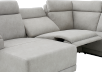Elran Reclining Battery Motorized Fabric Sectional Sofa with Adjustable Headrests - Grey product photo other06 S