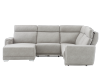 Elran Reclining Battery Motorized Fabric Sectional Sofa with Adjustable Headrests - Grey product photo other11 S