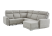 Elran Reclining Battery Motorized Fabric Sectional Sofa with Adjustable Headrests - Grey product photo other01 S