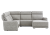 Elran Reclining Battery Motorized Fabric Sectional Sofa with Adjustable Headrests - Grey product photo other02 S