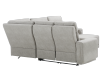 Elran Reclining Battery Motorized Fabric Sectional Sofa with Adjustable Headrests - Grey product photo other08 S