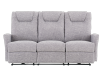 Reclining Electric Fabric Sofa - Grey product photo