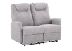 Reclining Battery Motorized Fabric Loveseat - Grey product photo other01 S