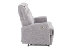 Reclining Battery Motorized Fabric Loveseat - Grey product photo other02 S