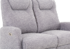 Reclining Battery Motorized Fabric Loveseat - Grey product photo other06 S