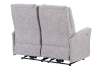 Reclining Battery Motorized Fabric Loveseat - Grey product photo other08 S
