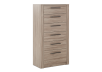 6 Drawer Chest - Brown and Beige product photo