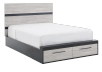 Drawer Bed - Black and Grey - Queen Size product photo