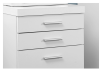 Filing Cabinet with Wheels - White and Black product photo other01 S