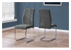 Chair with Metal Legs - Dark Grey and Silver Grey product photo other04 S