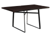 Table with Metal Legs - Dark Brown and Black product photo