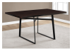 Table with Metal Legs - Dark Brown and Black product photo other01 S