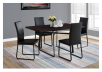 Table with Metal Legs - Dark Brown and Black product photo other04 S