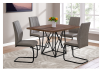 Table with Metal Legs - Beige and Black product photo other04 S