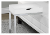 Side Table with Metal Legs - White and Silver Grey product photo other01 S