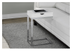 Side Table with Metal Legs - White and Silver Grey product photo other04 S
