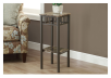 Side Table with Metal Legs - Dark Brown product photo other04 S