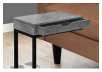 Side Table with Metal Legs - Grey and Black product photo other01 S