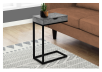 Side Table with Metal Legs - Grey and Black product photo other04 S
