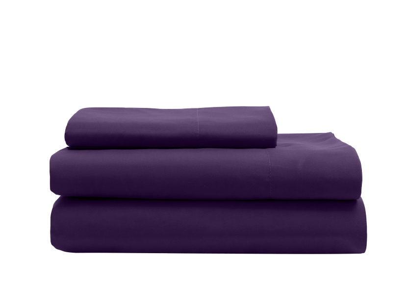 Ensemble de draps mauve - 1 place Twin photo du produit Front View L