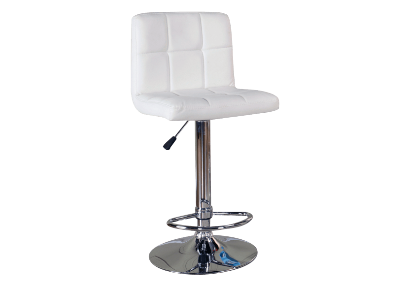 Tabouret de bar ajustable blanc photo du produit Front View L