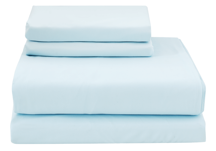 Ensemble de draps bleu - 2 places Double photo du produit Front View L