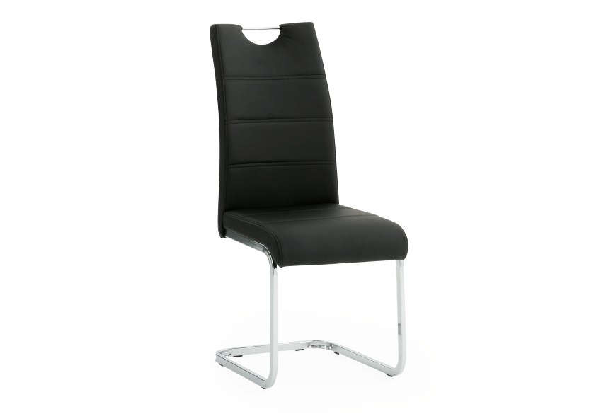 Chaise noire photo du produit Front View L