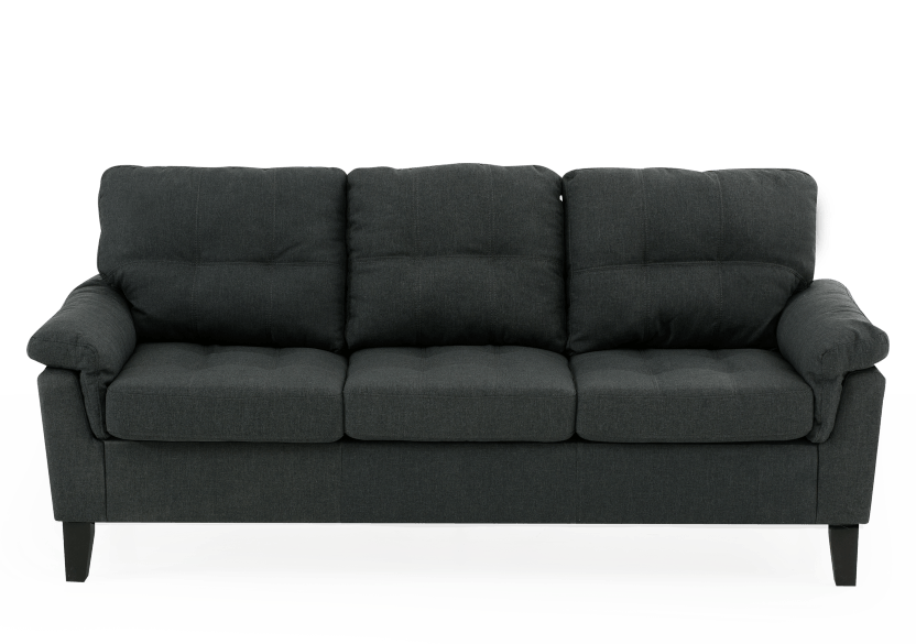 Sofa en tissu gris photo du produit Front View L