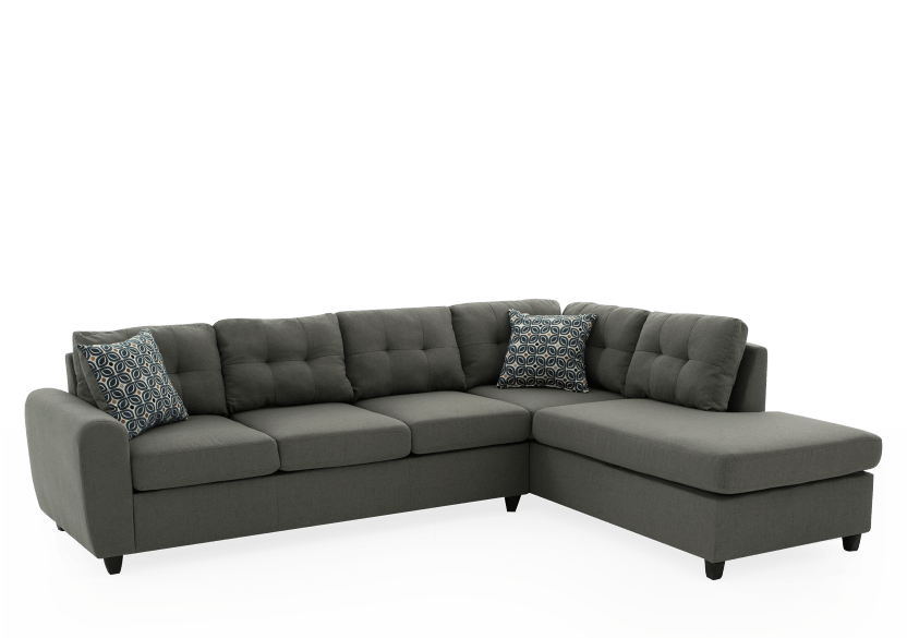 Sofa sectionnel en tissu gris photo du produit other01 L