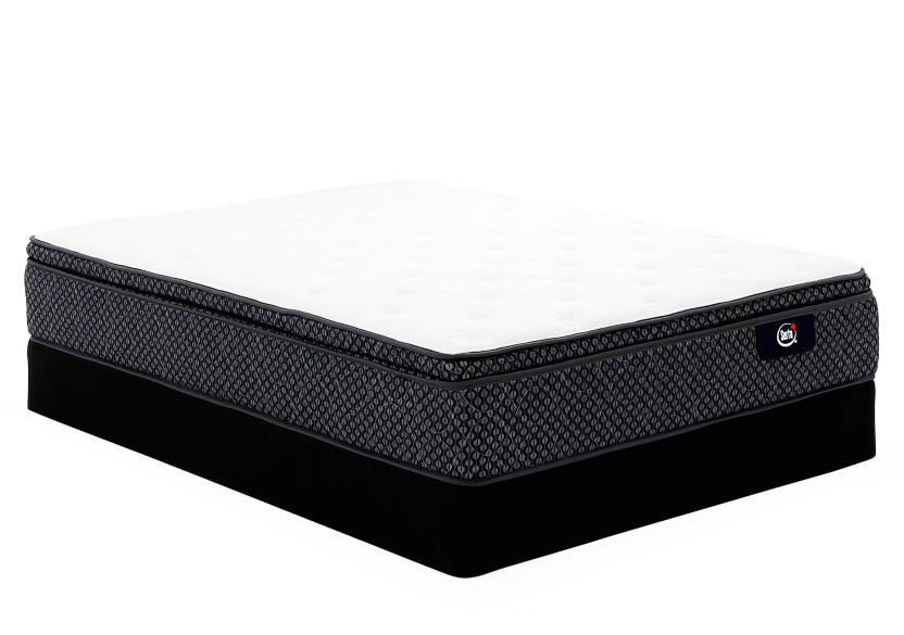 "Ensemble matelas sommier grand lit Queen 8,5"" - Rialto Serta photo du produit Front View L"