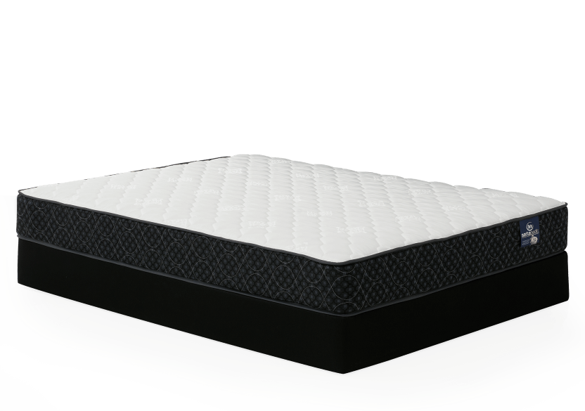 "Ensemble matelas sommier grand lit Queen 5,5"" - Lugano Serta photo du produit Front View L"