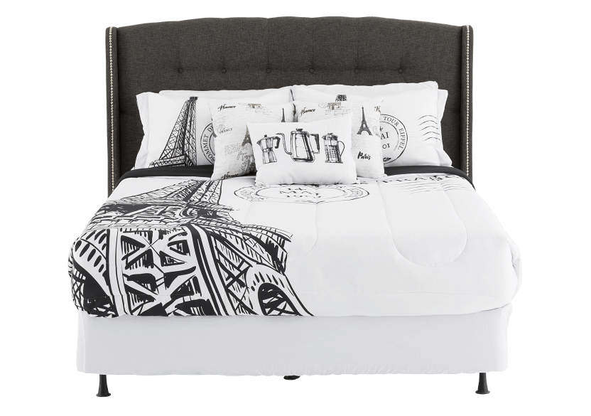 Ensemble de douillette noir et blanc - Grand lit Queen photo du produit other02 L