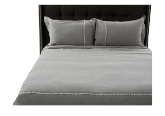 Ensemble de housse de couette gris – Très grand lit King photo du produit