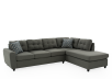Sofa sectionnel en tissu gris photo du produit other01 S